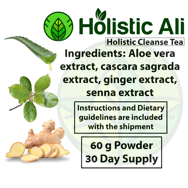 Ginger Extract, Aloe Vera Extract, Cascara Sagrada Extract, Senna Extract 60g + 226g Organic Fair Trade Chia Seeds FREE