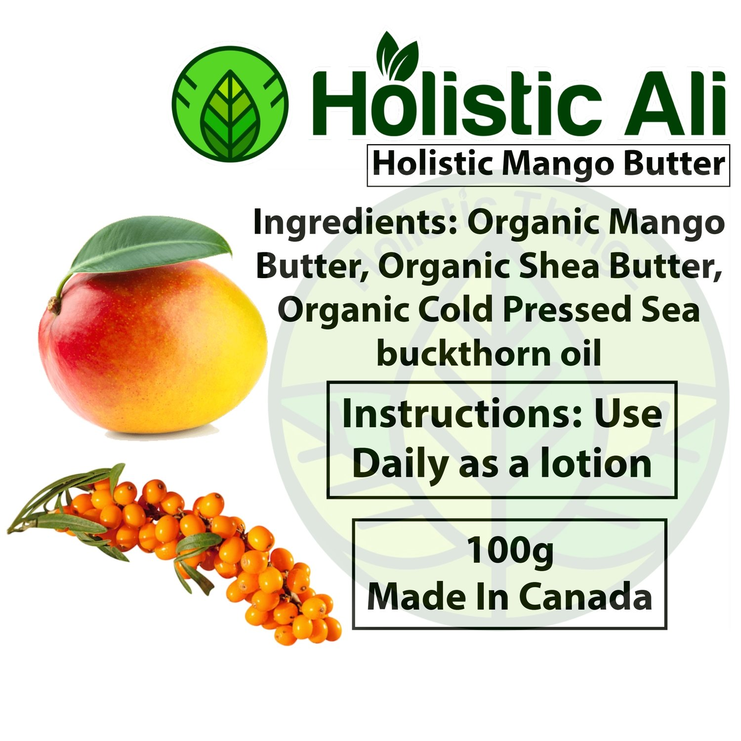 Organic Mango Sea Buckthorn Butter 100g