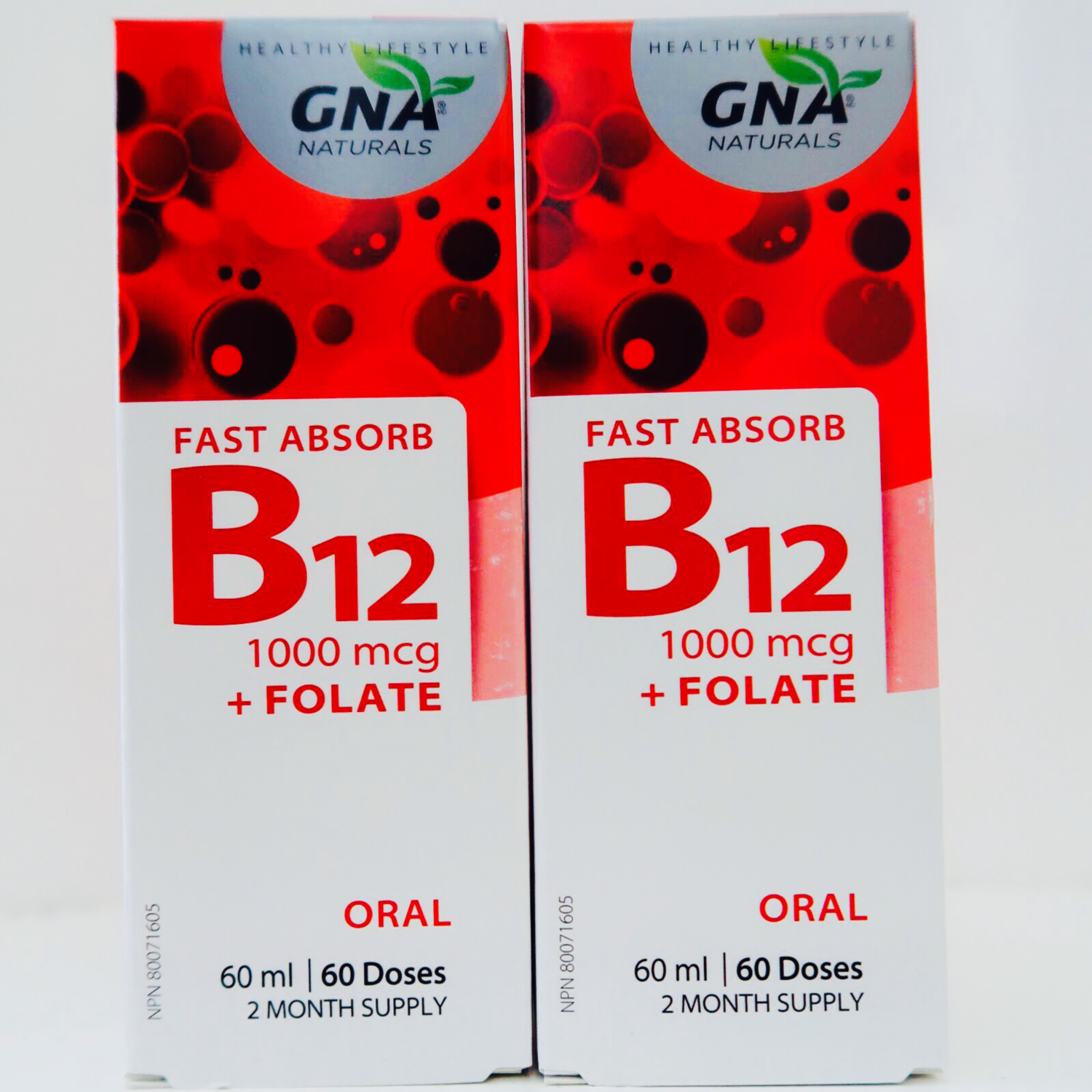 GNA Naturals Fast Absorb B12 + Active Folate Buy One Get One Free