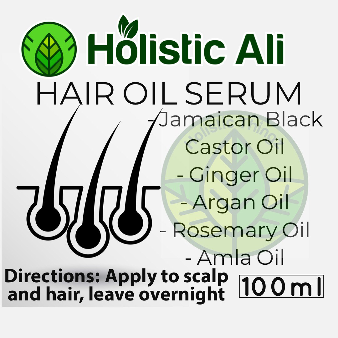 New Hair Oil serum Jamaican Black Castor Oil, Amla Oil, Ginseng Oil, Argan Oil, Ginger Oil, and Rosemary Oil