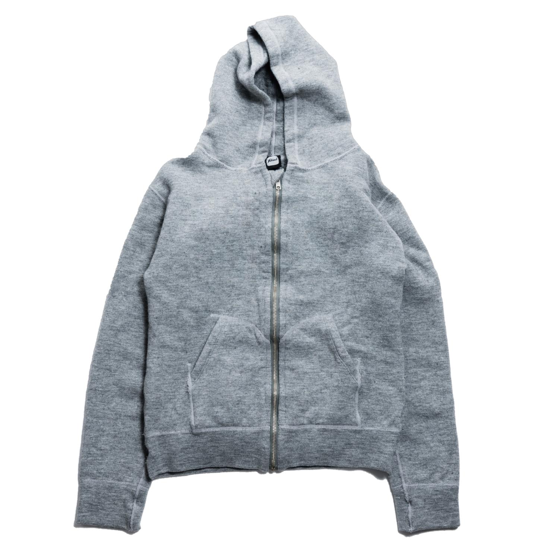 Full-zip hoodie khaki green