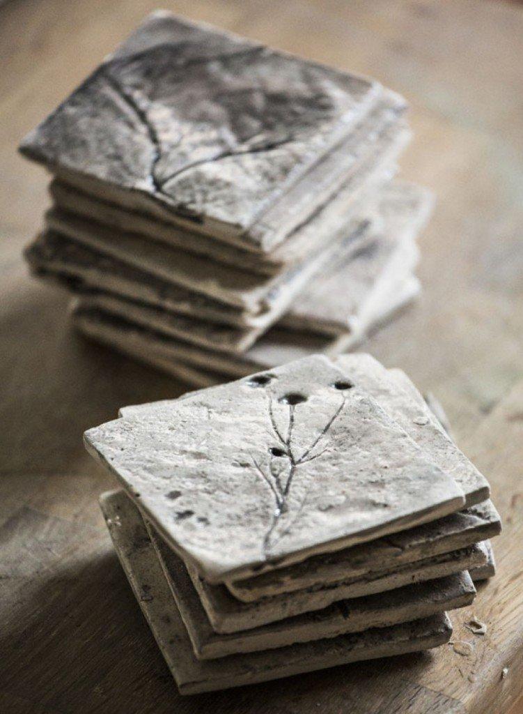 TILES Fossilium plants 10 x 10 cm 00011