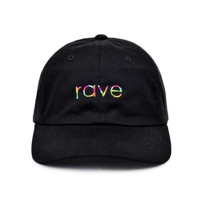 RAINBOW black dad cap