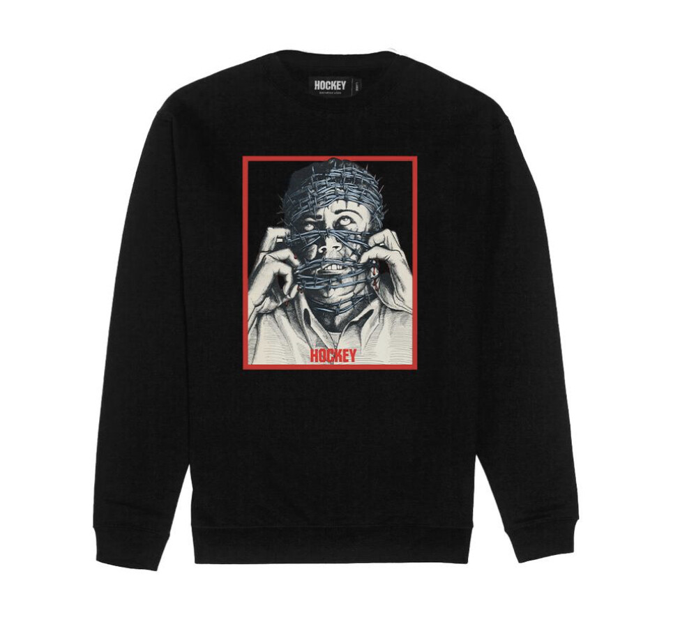 Crewneck HOCKEY - Barbwire - Black -