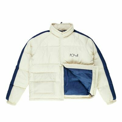 Jacket Polar - Stripe Puffer - Ivory/Navy
