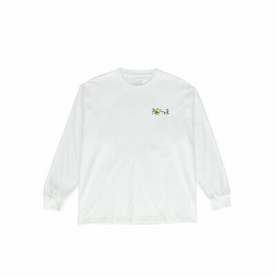 Long Sleeve Polar - Dragon's Nest Fill Logo - White