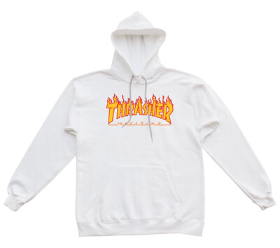 Thrasher Hoodie limited white