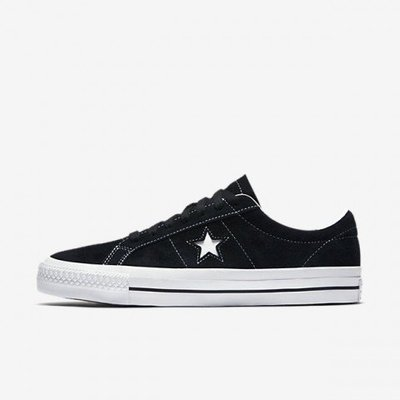 CONVERSE ONE STAR OX BLACK WHITE