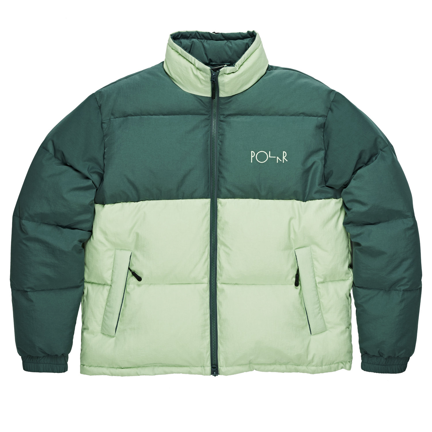 Jacket Polar - Combo Puffer - Green/Sea Foam Green