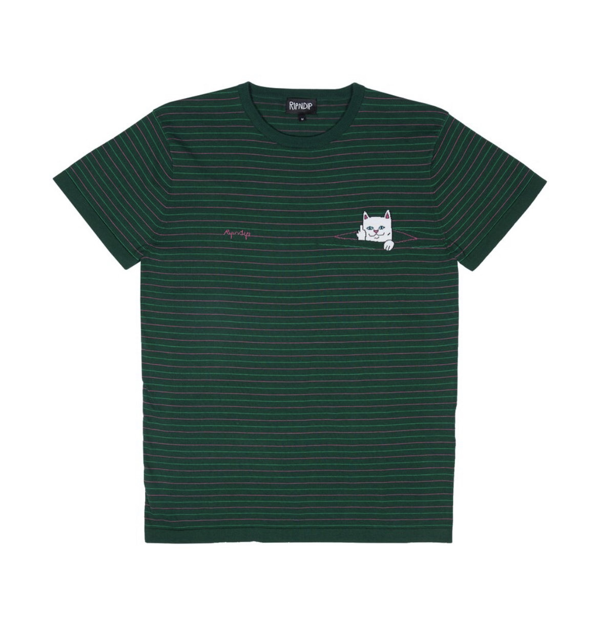 Peek A Nermal Knit Tee (Hunter Green / Fuchsia)