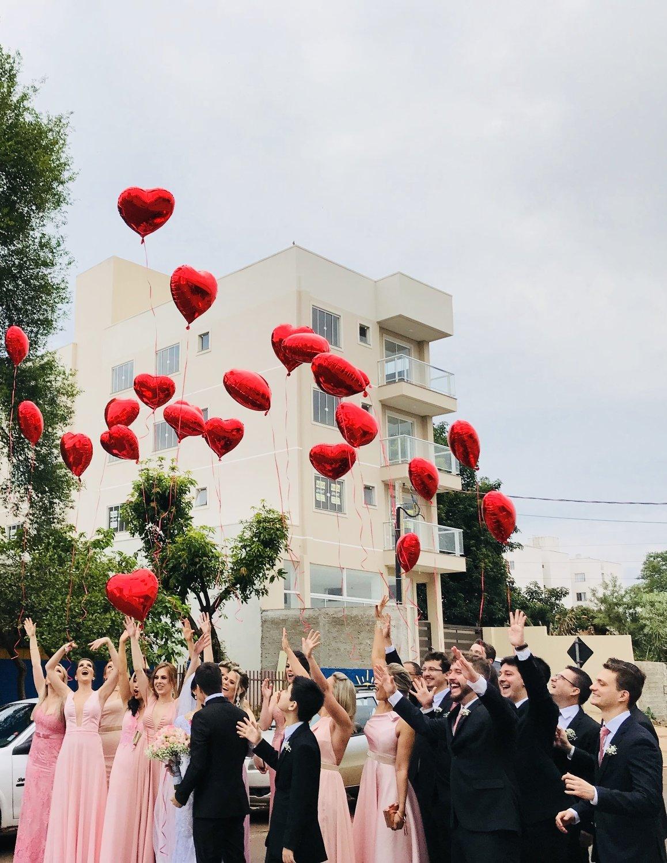 Hart Folie Helium Ballon Huwelijk