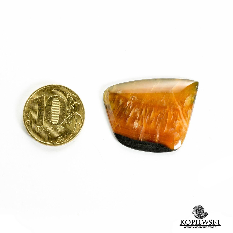 Симбирцитовый кабошон 30*25*3 мм
