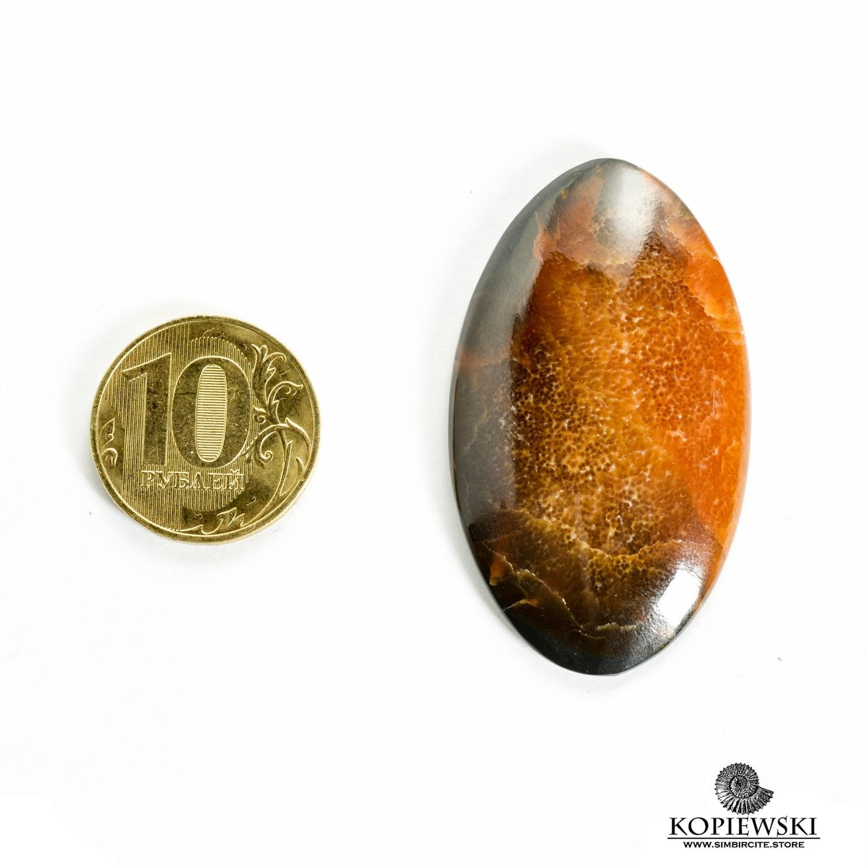 Симбирцитовый кабошон 50*27*3 мм