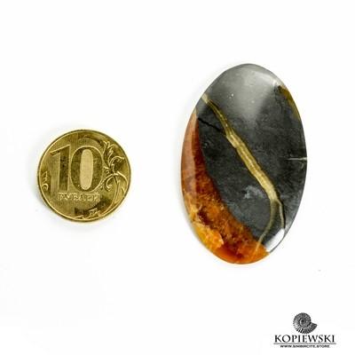 Симбирцитовый кабошон 45*30*3 мм