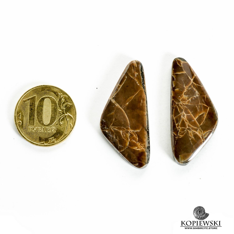 Парные кабошоны Симбирцит 40*15*3 мм
