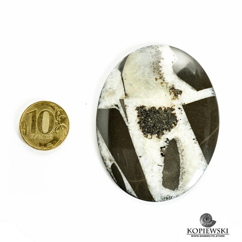 Симбирцитовый кабошон 70*55*3 мм