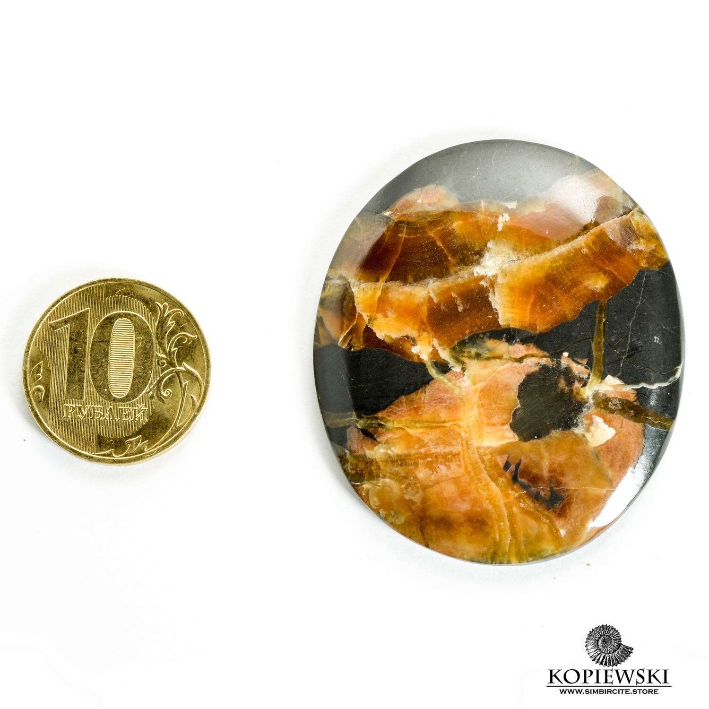 Симбирцитовый кабошон 50*45*3 мм