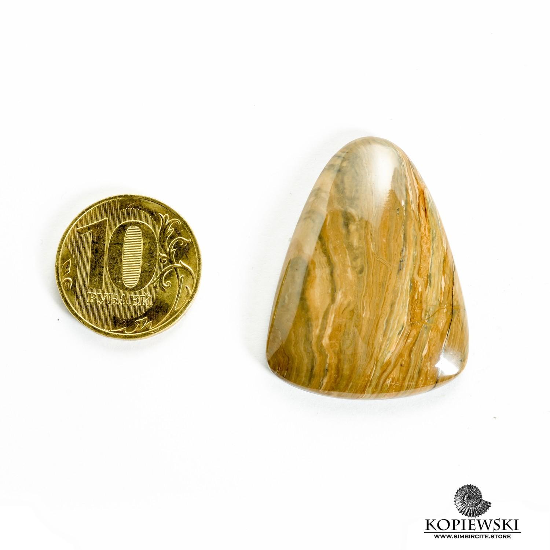 Кабошон из сенгилита 40*30*5 мм