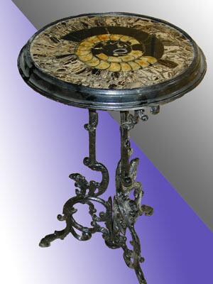 Стол с каменной столешницей