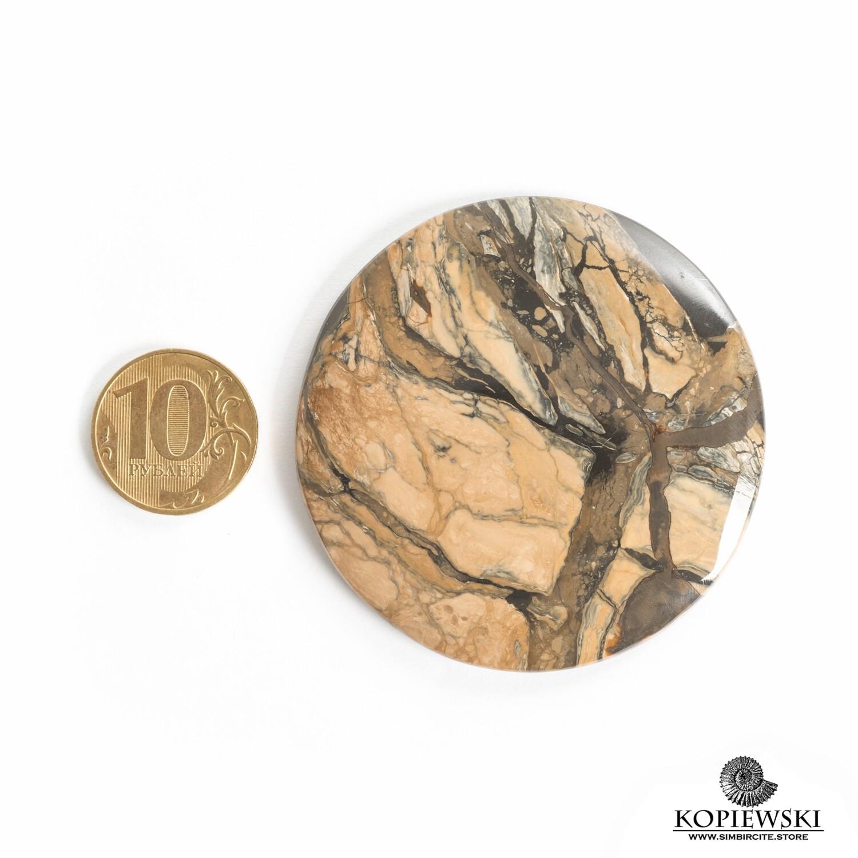 Кабошон из сенгилита 60*60*5 мм