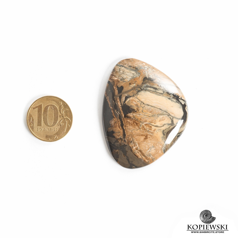 Кабошон из сенгилита 52*40*5 мм
