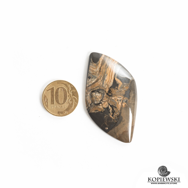 Кабошон из сенгилита 60*30*5 мм