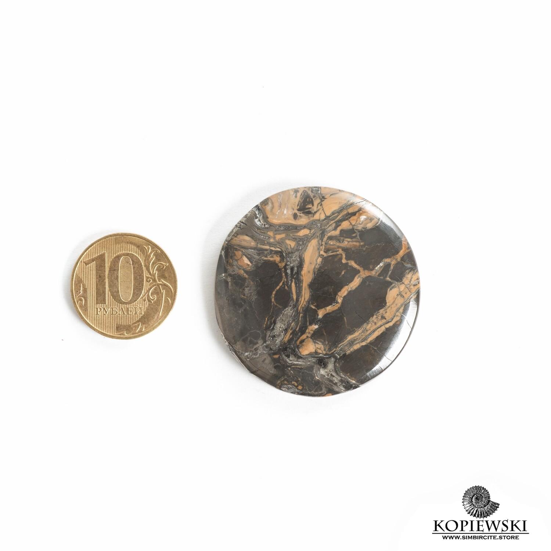 Кабошон из сенгилита 40*40*5 мм