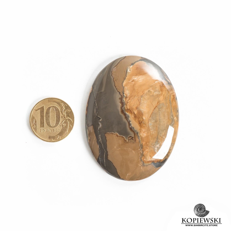 Кабошон из сенгилита 60*45*5 мм