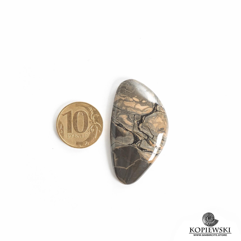 Кабошон из сенгилита 50*25*5 мм