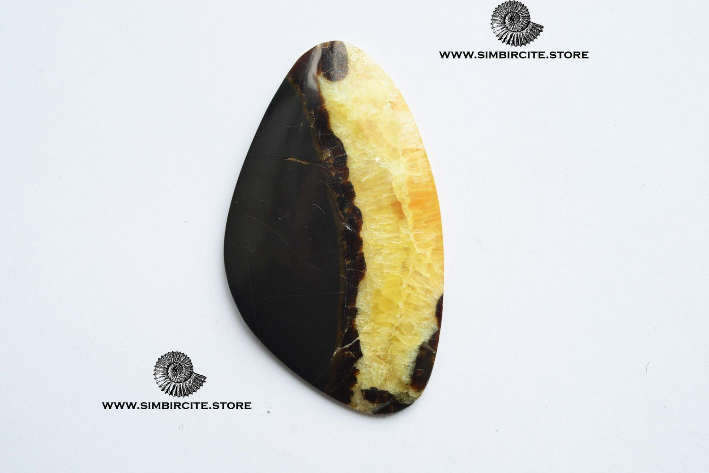 Симбирцитовый кабошон 63*35*3 мм