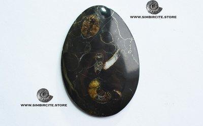Кабошон танатоценоз 60*41*3 мм