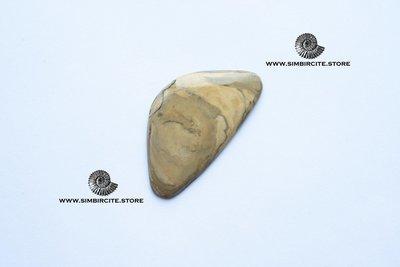 Кабошон из сенгилита 52*28*3 мм