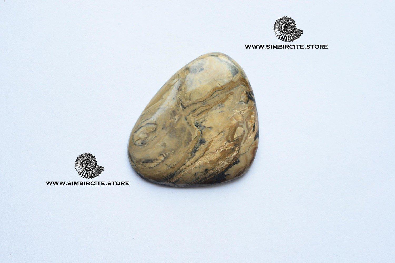 Кабошон из сенгилита 42*33*3 мм