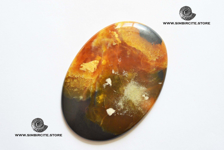 Симбирцитовый кабошон 73*52*3 мм