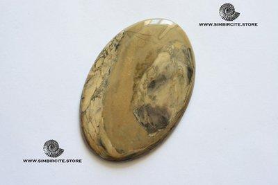 Кабошон из сенгилита 70*46*3 мм
