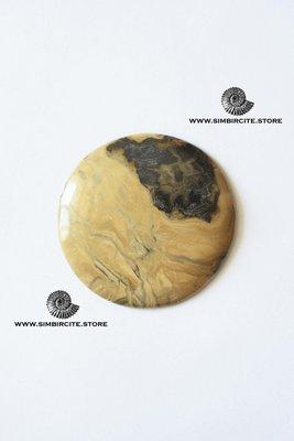 Кабошон из сенгилита 47*47*3 мм