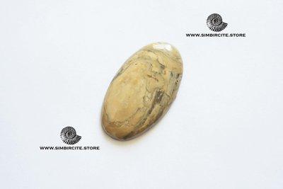 Кабошон из сенгилита 42*25*3 мм