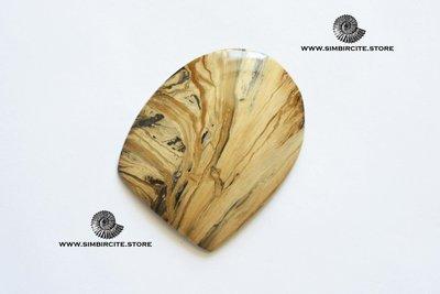 Кабошон из сенгилита 60*46*4 мм