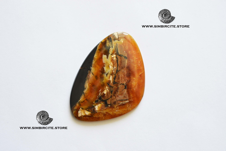 Симбирцитовый кабошон 66*40*5 мм