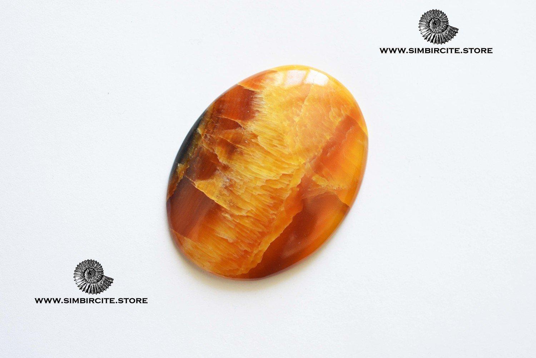 Симбирцитовый кабошон 50*30*4 мм