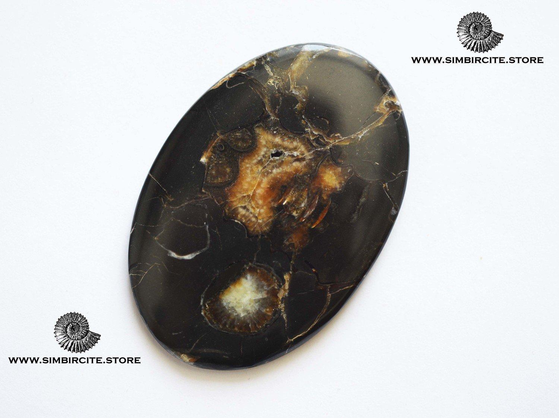 Кабошон танатоценоз 62*42*3 мм