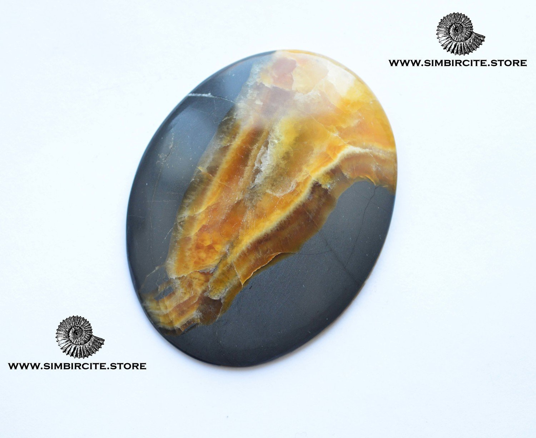 Симбирцитовый кабошон 48*60*4 мм