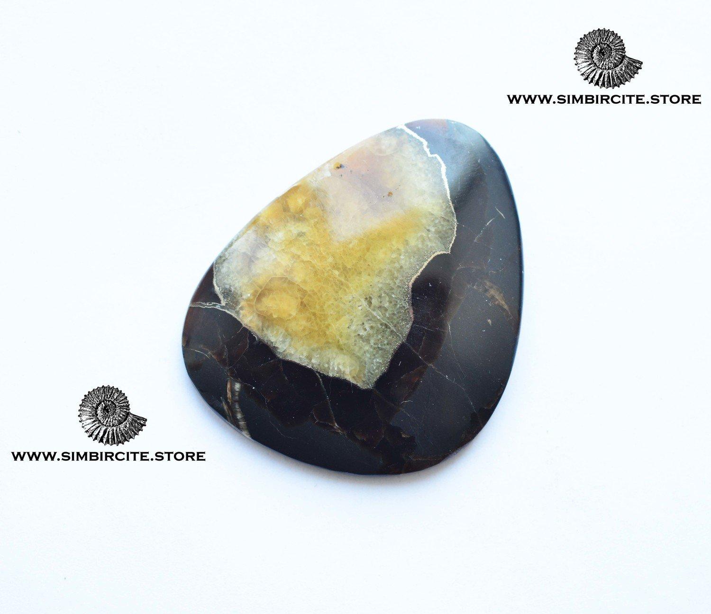 Симбирцитовый кабошон 50*43*4 мм