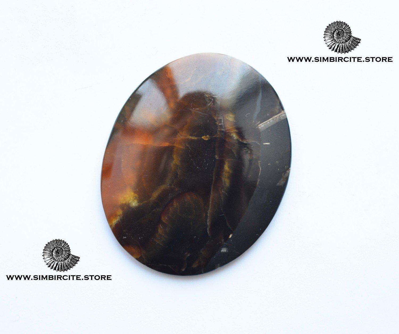 Симбирцитовый кабошон 53*47*4 мм