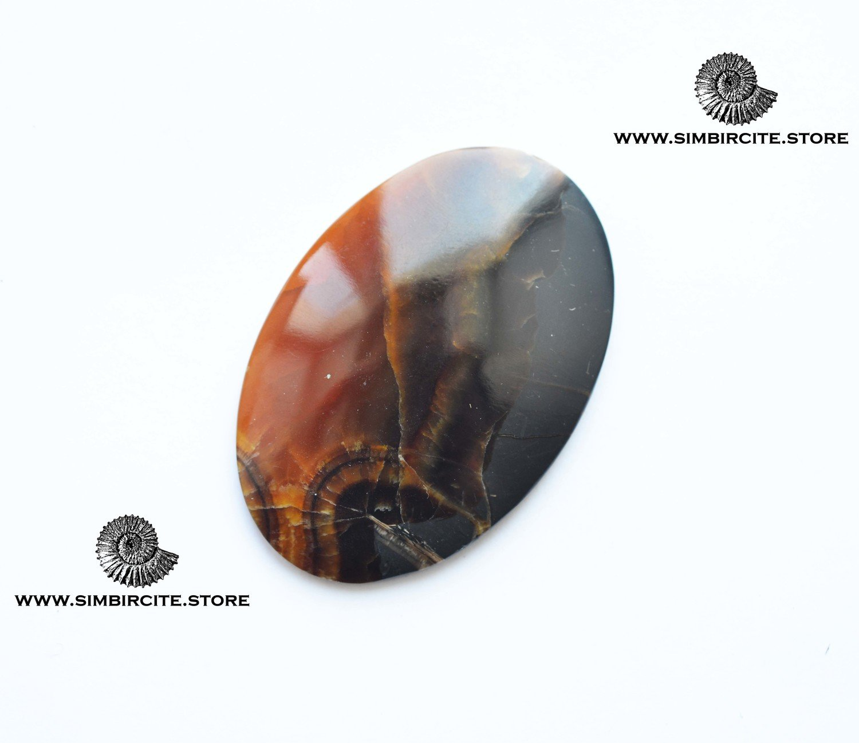 Симбирцитовый кабошон 60*40*4 мм