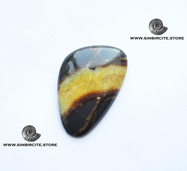 Симбирцитовый кабошон 50*33*3 мм