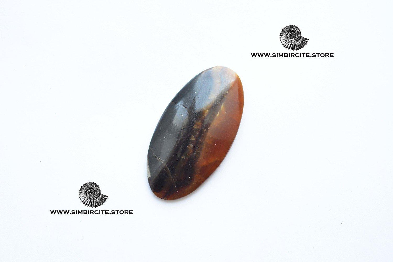 Симбирцитовый кабошон 55*28*5 мм