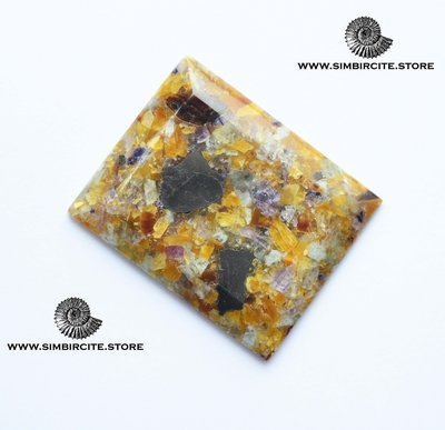 Мозаичный Симбирцит (Владелит) 46*34*5 мм