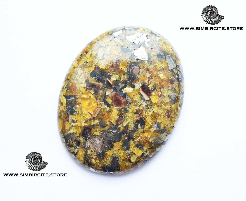 Мозаичный Симбирцит (Владелит) 70*55*9 мм
