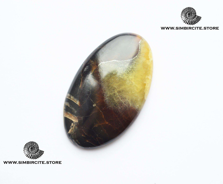 Симбирцитовый кабошон 52*30*5 мм